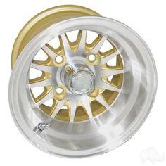 RHOX Phoenix Machined w/Gold w/ Center Cap 10x7