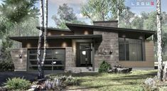 Home architecture styles modern house plans 54 Ideas Modern House Plans, Modern House Design, Modern House Exteriors, Home Architecture Styles, Plan Chalet, Drummond House Plans, Small Modern Home, House Siding, Exterior House Colors