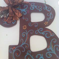 Wooden letters by Lindsay Davis