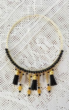 Boho necklace hippie necklace tassel necklace by unique1piece
