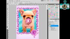 Tutorial Photoshop: Cómo poner un marco y fondo a una foto. Fácil y Rápido.