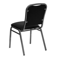 Flash Furniture NG108SVBKVYLGG Hercules Series Stacking Banquet Chair With  Black Vinyl And 112Inch Thick SeatSilver Vein Frame ** Click Image To Reu2026