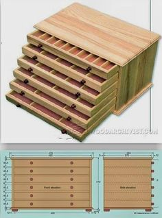 Collectors Chest Plan - Woodworking Plans, Woodworking Projects | WoodArchivist.com #woodworkingbench #SmallWoodworkingProjectsFreePlans #woodworkplans #WoodworkingProjects