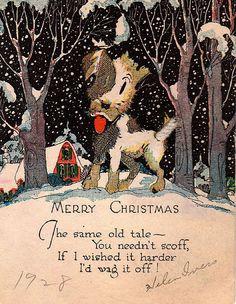 §§§ . 1928 christmas card