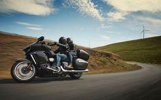 Download wallpapers Yamaha Star Venture TC, 2018 bikes, touring motorcycle, bikers, Yamaha