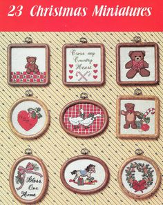 Country Christmas Miniatures Vintage Cross Stitch by TheFoundBox