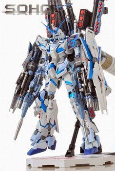 Mg Unicorn Full Armor Soho, Futuristic Robot, Japanese Robot, Gundam Wallpapers, Gundam Mobile Suit, Unicorn Gundam, Gundam Custom Build, Ninja Weapons, Gundam Art