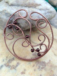 """Pendentif """"Rêve"""" en fil de cuivre : Autres bijoux par bijoux-femmes"""