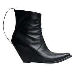 Unravel Project pointed toe ankle wedges - Black farfetch neri Comprar Barato Con Paypal Aclaramiento Última Descuento Originales Oficial Barato jePIni82C