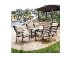 Outdoor #Patio #Furniture Dining Set 7-Piece Table Modern Garden Chairs Deck Yard #ModernGarden