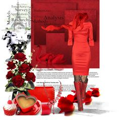 """""""Red love"""" by jecakns ❤ liked on Polyvore"""