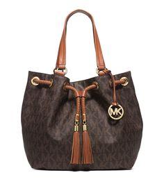 211b98d39be3fb MICHAEL MICHAEL KORS Jet Set Item Large Gathered Logo Tote+Carryall Wallet  Michael Kors Handbags
