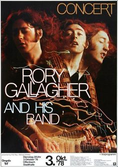 Rory Gallagher - Photo Finish 1978 - Poster Plakat Konzertposter