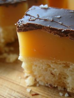 Salted Caramel Shortbread Bars.