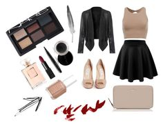 """Night club."" by alix-roche on Polyvore featuring mode, Jimmy Choo, Kate Spade, NARS Cosmetics, Mary Kay et Essie"