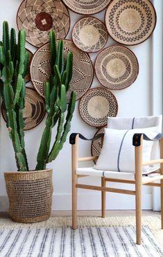 boho home accessories Tonga Wicker Wall baskets Binga African Tribal Baskets Baskets On Wall, Wicker Baskets, Picnic Baskets, Home And Deco, Bohemian Decor, Bohemian Style, Bohemian Living, Hippie Style, Dark Bohemian
