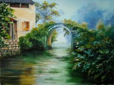 "Oil painting workshop with Svetlana Kanyo""Water Reflection"""