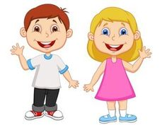 Illustration of Cartoon boy and girl waving hand vector art, clipart and stock vectors. Boy And Girl Cartoon, Boy Or Girl, Cartoon Cartoon, Cartoon Characters, Pre Primary School, Hand Illustration, Young Boys, Graphic Design Art, Cute Kids