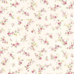 56.4 sq. ft. Turtledove Pink Small Rose Toss Wallpaper