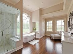 View this Great Traditional Master Bathroom with Double sink & Complex marble counters by Jackie Turner. Discover & browse thousands of other home design ideas on Zillow Digs. Contemporary Interior Design, Contemporary Bathrooms, Bathroom Photos, Bathroom Ideas, Bathroom Inspiration, Bathroom Designs, Cozy Bathroom, Bathroom Plans, Bathroom Art
