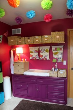 nursery from All Things G&D. lots more pics and tips at the link.