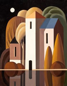 Andy Wooldridge- Canadian Painter - Works The Mill At Fritham II x oil / canvas Canadian Painters, Canadian Art, Oil Painting Abstract, Watercolor Art, Landscape Art, Landscape Paintings, Building Painting, Art Deco Bathroom, Art Deco Posters