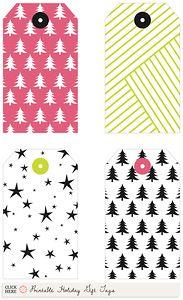 Holiday gift tags (free printable) by Jenn of Ambrosia Creative for Dotcoms for Moms. Christmas Gift Tags, All Things Christmas, Christmas Decor, Holiday Crafts, Holiday Fun, Paper Crafts, Diy Crafts, Christmas Printables, Envelopes