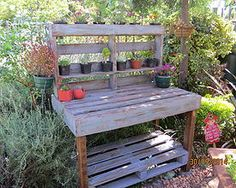 Purple pallet potting table Not2shabby Furniture Catalogue