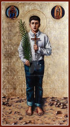 St. Jose Sanchez del Rio icon by Theophilia on DeviantArt Catholic Saints, Roman Catholic, Cristero War, St Jose, Excellent Movies, Knights Of Columbus, The Imitation, Recent Movies, In And Out Movie