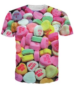 Valentine Candy Hearts T Shirts. I have a nice mix of sweetheart conversation candy heart tees here. A shirt featuring naughty candy hearts. A shirt with the normal G rated candy hearts but in high resolution, and, of course, the mean candy hearts for the grumps in the audience.  Candy hearts remind me of elementary school, when I got like zero Valentines when the kids were passing them out.   #candyhearts