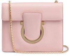 Salvatore Ferragamo Thalia light pink leather Gancini shoulder bag Chain Shoulder Bag, Shoulder Handbags, Leather Shoulder Bag, Shoulder Strap, Shoulder Bags, Leather Purses, Leather Handbags, Thalia, Medium Bags