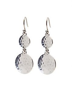 HAMMERED DROP EARRING. Lucky brand