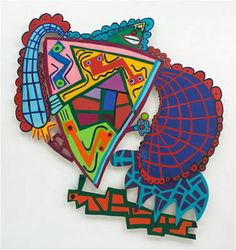 Elizabeth Murray and Frank Stella- Nice lesson plans and student examples! Stella Art, Frank Stella, Willem De Kooning, Jackson Pollock, High School Art Projects, School Ideas, 8th Grade Art, Sculpture Lessons, School Painting