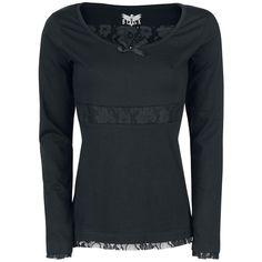 Laced Longsleeve - Långärmad tröja från Black Premium by EMP Blouse, Long Sleeve, Lace, Sleeves, Shopping, Tops, Women, Fashion, Moda
