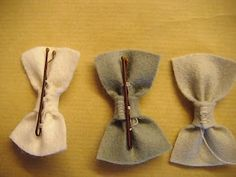 diy felt hairbows - Click image to find more DIY & Crafts Pinterest pins