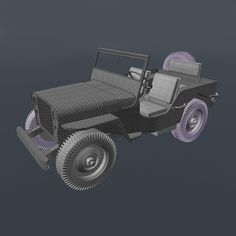 UV Mapping a High Poly World War II Willys Jeep in Modo - Part 4 by Michael Ciesielski, In Part we'll continue mapping the remaining parts of the jeep. This lesson will cover creating UVs for the seats, handles, dials and steering wheel.