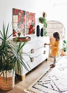 ikea malm diy hacks IKEA Dresser Hacks You Need For Your Bedroom Hack Commode Ikea, Ikea Pine Dresser, Ikea Dresser Makeover, Ikea Malm Dresser, Dresser Ideas, Furniture Makeover, Nightstand, Ikea Bedroom, Bedroom Dressers