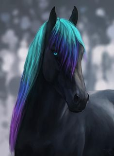 Cute Fantasy Creatures, Mythical Creatures Art, All The Pretty Horses, Beautiful Horses, Horse Drawings, Animal Drawings, Fantasy Paintings, Fantasy Art, Star Stable Horses
