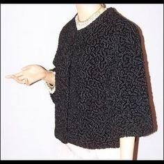 Faux Fur 1960's Vintage Curly Lamb Coat | Pour moi | Pinterest ...