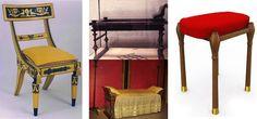 Une chaise, des lits et un tabouret