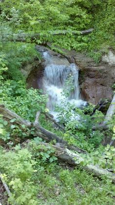 Nebraska...the unintended waterfall from runoff... Beautiful almost like Puerto Rico