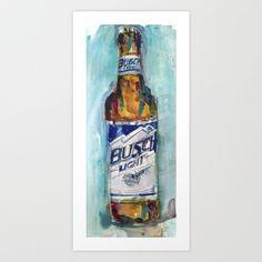 Busch Lite Art Print by Dorrie Rifkin Watercolors - $19.00