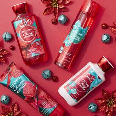 Like your favorite #PerfectChristmas party dress, America's favorite fragrance, Japanese Cherry Blossom, is all dressed up for the holidays!