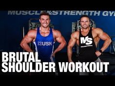 Muscle & Strength: Brutal Shoulder Workout with IFBB Pros Ryan Terry & Brett Kahn