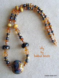 Lampwork necklace.