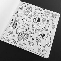 I couldn't stop. #sketch #sketchbook #moleskine #doodle #drawing #illustration #brushpen