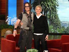 Ellen with Johnny Depp