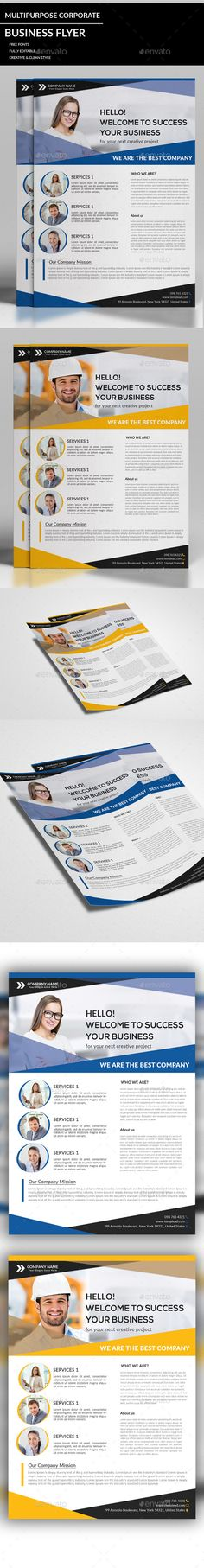 Multipurpose Business Flyer PSD Template #design Download: http://graphicriver.net/item/multipurpose-business-flyer/12707351?ref=ksioks