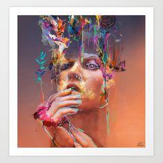 Analog Dream Art Print by archann Art Bizarre, A Level Art, Canadian Art, Color Pencil Art, Dream Art, Old Art, Art Deco Design, Famous Artists, Art Inspo