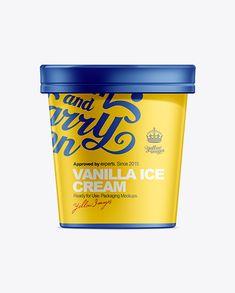 Yellow Ice Cream Pot